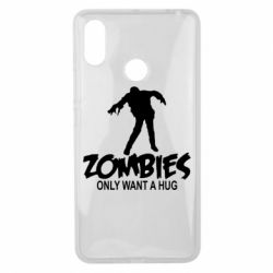 Чехол для Xiaomi Mi Max 3 Zombies only want a hug