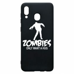 Чехол для Samsung A30 Zombies only want a hug