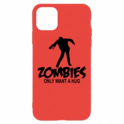 Чехол для iPhone 11 Zombies only want a hug
