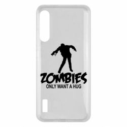 Чохол для Xiaomi Mi A3 Zombies only want a hug