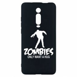 Чехол для Xiaomi Mi9T Zombies only want a hug