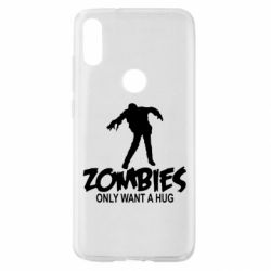 Чехол для Xiaomi Mi Play Zombies only want a hug
