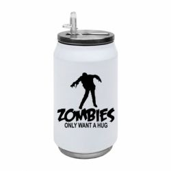 Термобанка 350ml Zombies only want a hug