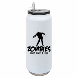 Термобанка 500ml Zombies only want a hug