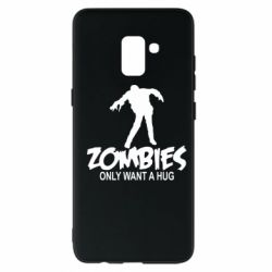Чехол для Samsung A8+ 2018 Zombies only want a hug