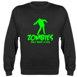 Реглан Zombies only want a hug - FatLine
