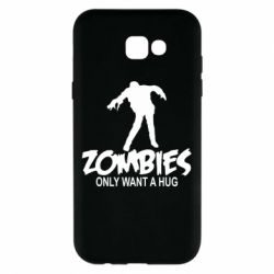 Чехол для Samsung A7 2017 Zombies only want a hug