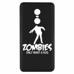 Чехол для Xiaomi Redmi Note 4x Zombies only want a hug
