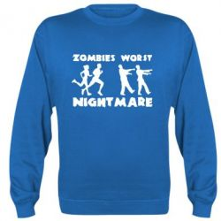 Реглан (свитшот) Zombies the worst night mare - FatLine