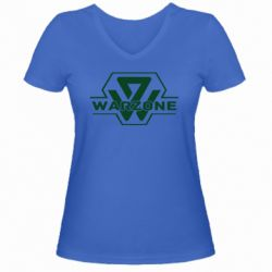 Жіноча футболка з V-подібним вирізом Зона боевых действий