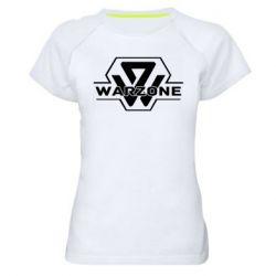 Жіноча спортивна футболка Зона боевых действий