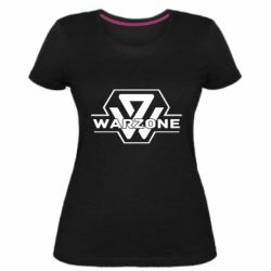 Жіноча стрейчева футболка Зона боевых действий