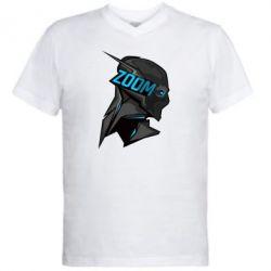 Мужская футболка  с V-образным вырезом Zoom - FatLine