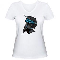 Женская футболка с V-образным вырезом Zoom - FatLine