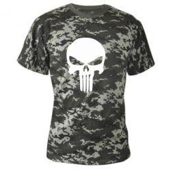 Камуфляжная футболка Зубастый череп - FatLine