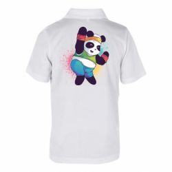 Дитяча футболка поло Zumba Panda