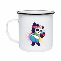 Кружка емальована Zumba Panda