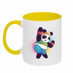 Кружка двоколірна 320ml Zumba Panda