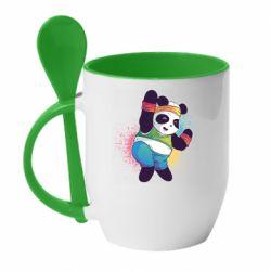 Кружка з керамічною ложкою Zumba Panda