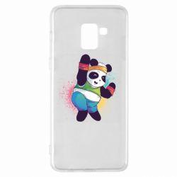 Чохол для Samsung A8+ 2018 Zumba Panda