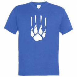 Чоловіча футболка з V-подібним вирізом Звірячий мисливець