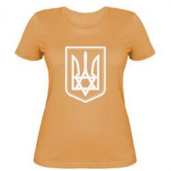 Женская футболка Звезда Давида+герб - FatLine
