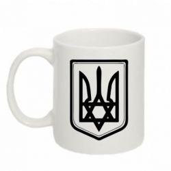 Кружка 320ml Звезда Давида+герб - FatLine