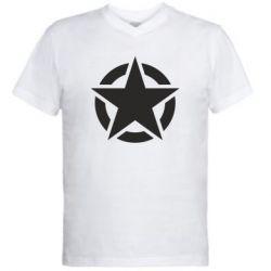 Чоловіча футболка з V-подібним вирізом Зірка Капітана Америки
