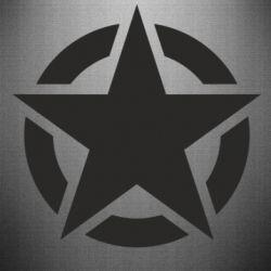 Наклейка Зірка Капітана Америки