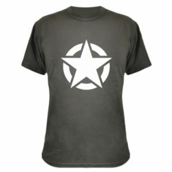 Камуфляжна футболка Зірка Капітана Америки
