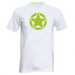 Чоловіча спортивна футболка Зірка Капітана Америки