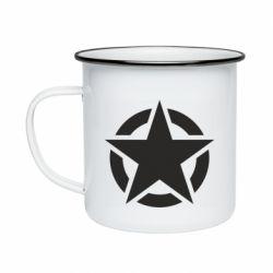 Кружка емальована Зірка Капітана Америки