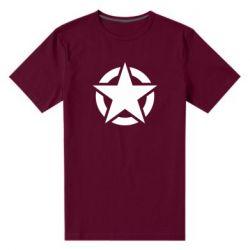 Чоловіча стрейчева футболка Зірка Капітана Америки