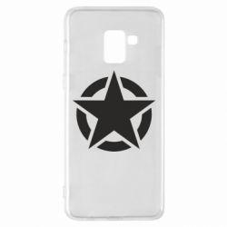 Чохол для Samsung A8+ 2018 Зірка Капітана Америки