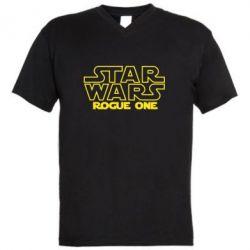Мужская футболка  с V-образным вырезом Звездные Войны: Бродяга Один