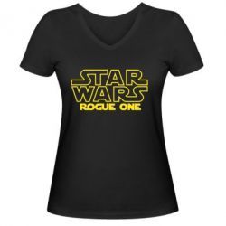 Женская футболка с V-образным вырезом Звездные Войны: Бродяга Один
