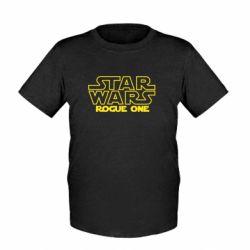 Детская футболка Звездные Войны: Бродяга Один